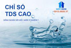 Có phải chỉ số TDS cao là nước đang bị ô nhiễm ?