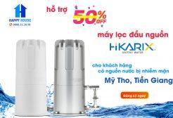 Hỗ trợ máy lọc đầu nguồn Hikarix cho khách hàng Tiền Giang bị nhiễm mặn